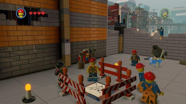 建設現場内左のひび割れ