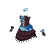 ドットミニドレス(青)