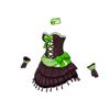 ドットミニドレス(緑)