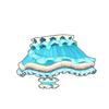 フリルキャットスカート(青)