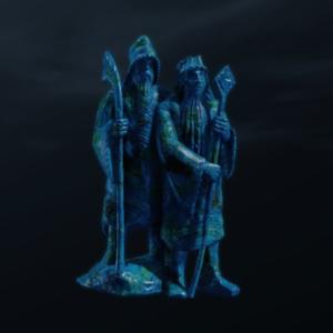 アーティファクト_風化したアジュライトの像。2人のイスタリ.png