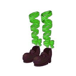 ドットミニリボンハイヒール(緑)