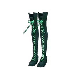 フラワーロックブーツ(緑)