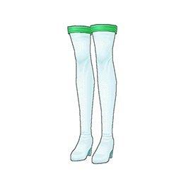 レースクイーンブーツ(緑)
