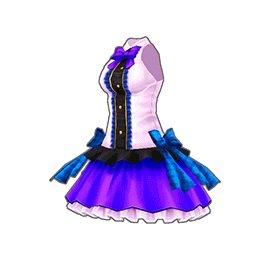 ビビッドアイドルワンピース(紫)