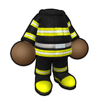 消防隊員の防火服