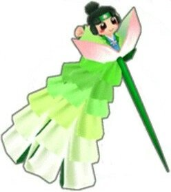 (緑)桃のかんざし