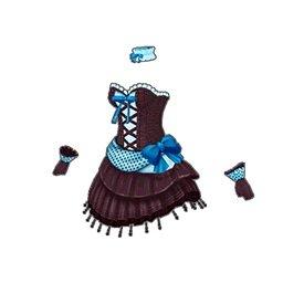 ドットミニリボンドレス(青)