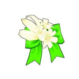 フラワーリボン(緑)