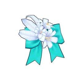 フラワーリボン(青)