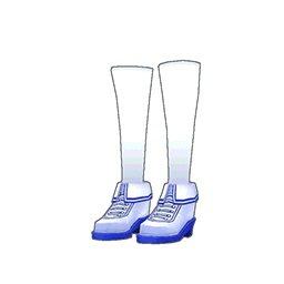 スクールガールスニーカー(青)