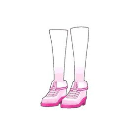 スクールガールスニーカー(ピンク)