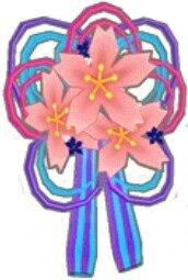 桜花の髪飾り(青)