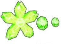 ブロッサムラインストーン(緑)