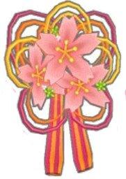 桜花の髪飾り(赤)