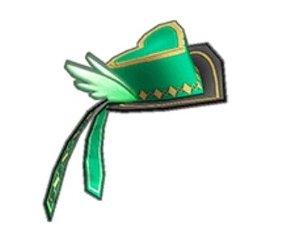 ハートフェザーミニハット(緑).JPG