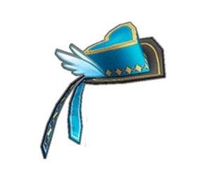 ハートフェザーミニハット(青)