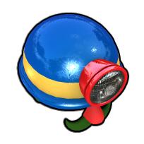 勇敢な探険家のヘルメット