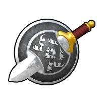 古代戦士の剣と盾