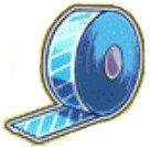 青のテープ