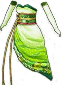 クイーンキモノドレス(緑)