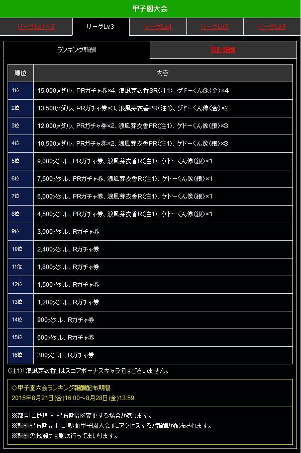 kランキング リーグ3