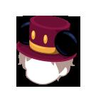 耳付きゴシック帽