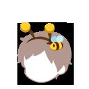 ミツバチ髪飾り