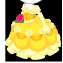 バラのダンスドレス