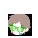 パーティメガネ 緑