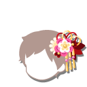 白梅の花かんざし