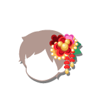 紅梅の花かんざし