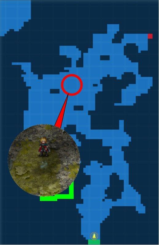 岩礁のコケ