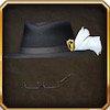 羽付き帽子(黒)