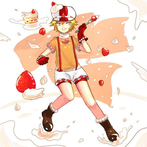 ダイヤ×ショートケーキ風の衣装