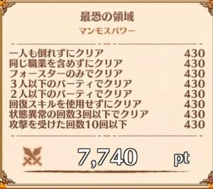 """ナイトメア12-3""""マンモスパワー""""の獲得報酬例"""