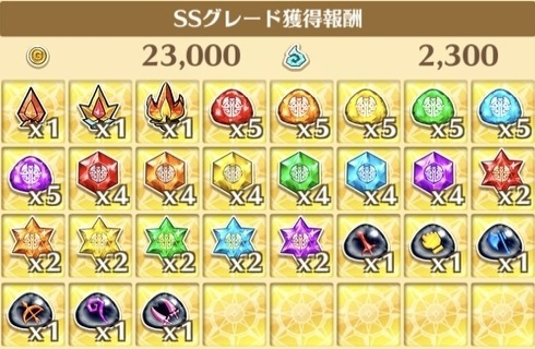"""星7""""激闘が結ぶディスティニー!""""の獲得報酬例"""