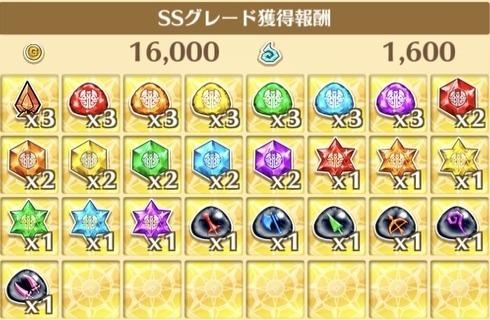 """星5""""戦場に響くシンフォニー!""""の獲得報酬例"""
