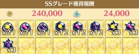 SS時の獲得報酬例