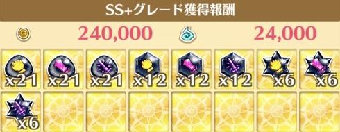 SS+時の獲得報酬例