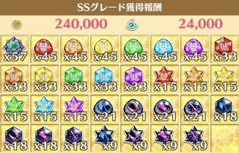 """星17""""パレオパラドキシアと一緒!!""""の獲得報酬例"""