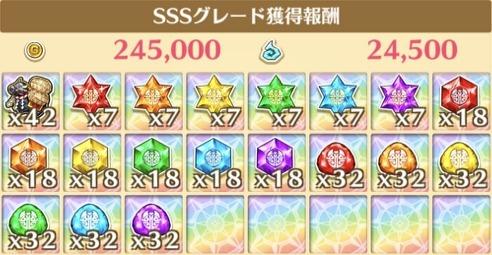"""星13""""あけまして、バッファロー!""""の獲得報酬例"""