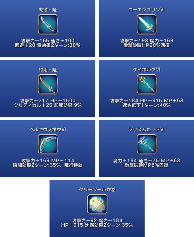 バブイル武器の5段階目の強化を実装