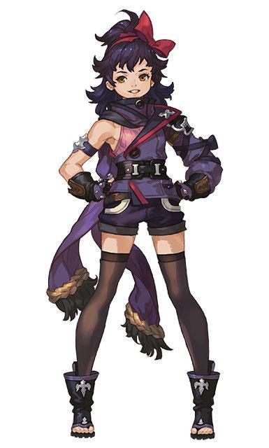 忍者の末裔の少女「マイナ」