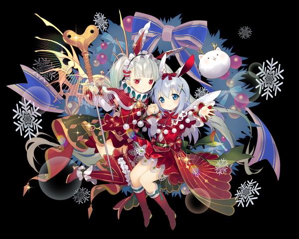 /theme/famitsu/kairi/illust/【妖精と白兎】異界型チノ&ウアサハ(傭兵)