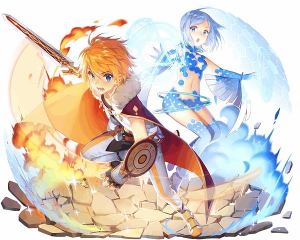 /theme/famitsu/kairi/illust/【平和を願う】相棒型アーサー_剣術の城&フェイ