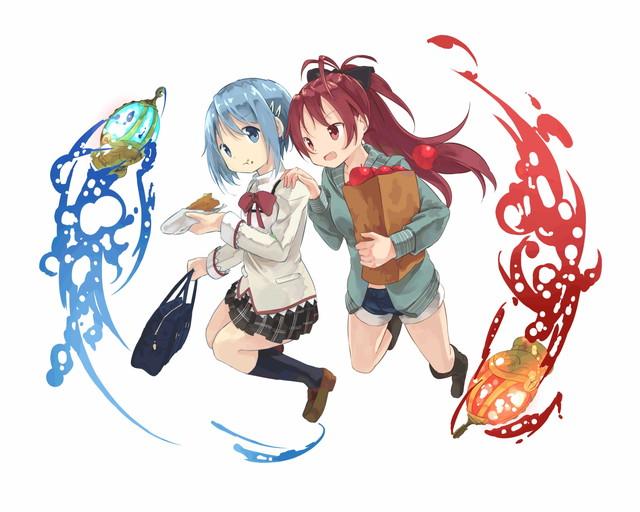 /theme/famitsu/kairi/illust/【騎士】異界型さやか&杏子
