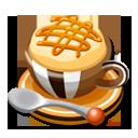 森のカフェのキャラメルラテ