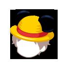 ミッキー麦わら帽