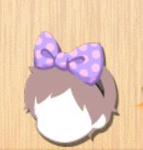 ドットリボン 紫